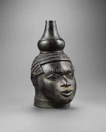 Learn more about Benin Memorial Head with Gourd work of art