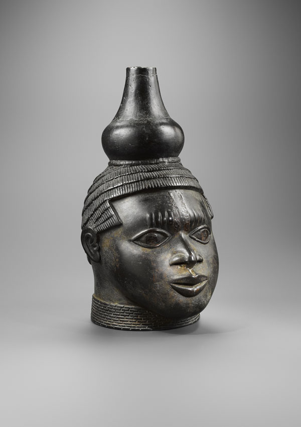 Benin Memorial Head with Gourd - now in the collection of the Private Collection - image 1