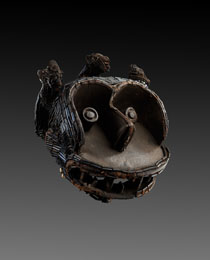 Learn more about Bakom Monkey Helmet Mask work of art
