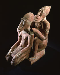Learn more about Djenné Terracotta Couple work of art