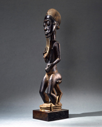 Learn more about Baule Seated Spirit Figure blolo bian work of art