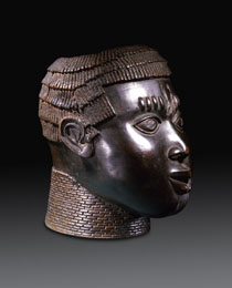 Learn more about Benin Bronze Commemorative Head work of art