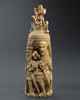 Bini-Portuguese Ivory Salt Cellar - now in the collection of the Musée du Quai Branly, Paris - image 3