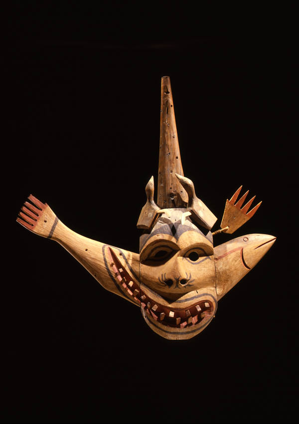 Eskimo Yup'ik Giant Salmon Mask - now in the collection of the Private Collection - image 1