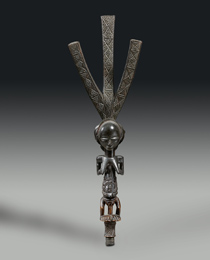 Learn more about Luba Ceremonial Bow Stand work of art