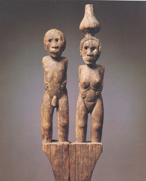 Learn more about Sakalava Mortuary Post Figural Couple work of art