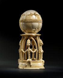 Learn more about Sapi-Portuguese Ivory Salt Cellar work of art